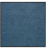 Fußmatte Uni denimblau quadratisch