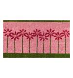Kokosfußmatte pink Flowers