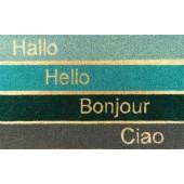 Kokosfußmatte Coco Design Hallo Hello Bonjour Ciao