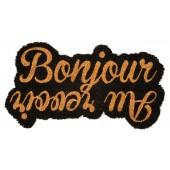 Fußmatte Bonjour Kokos