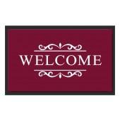 Fußmatte Deco & Wash Welcome bordeaux
