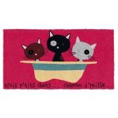 Fußmatte drei kleine Katzen Kokos