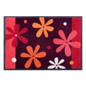 Fußmatte Easy Clean Blumen rot