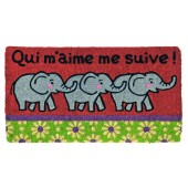 Fußmatte Elefanten Kokos