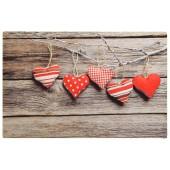 Fußmatte Gallery Herzen auf Holz