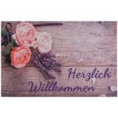Fußmatte Gallery Lavendel Wilkommen