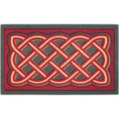Fußmatte Labyrinthmuster rot