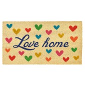 Fußmatte Love Home Heart Kokos