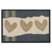 Fußmatte Mondial Hearts Papercut