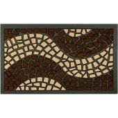 Fußmatte Mosaik braun