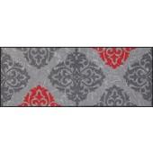 Fußmatte Ornamentweg grau rot XXL