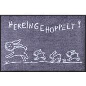 Fußmatte Hereingehoppelt