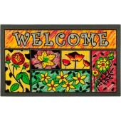 Fußmatte Welcome Flowers