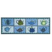 Fußmatte Salonloewe Blue Teapots XXL