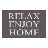 Fußmatte Easy Clean Mats Relax enjoy grau
