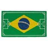 Fußmatte Kokos Football Brazil