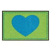 Fußmatte Salonloewe Hearts Green