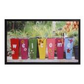 Fußmatte Image Flowerpots Welcome