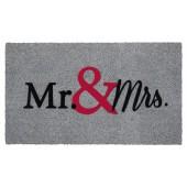 Fußmatte Kokos Mr and Mrs