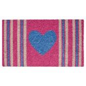 Fußmatte Kokos Stripes Heart