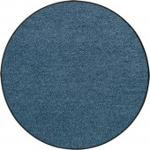 Fußmatte Salonloewe Uni denimblau rund