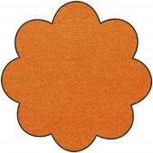 Fußmatte Salonloewe Uni kürbis orange Blume