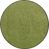 Fußmatte Salonloewe Uni olivgrün rund