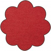 Fußmatte Salonloewe Uni rot Blume