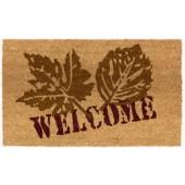 Kokosfußmatte Lako Cocoprint Colori Welcome Leaf