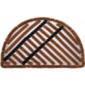 Kokosfußmatte Cocofer Streifen halbrund