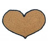 Kokosfußmatte Herz Wendematte natur schwarz