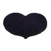 Kokosfußmatte Herz Wendematte schwarz