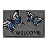 Kokosfußmatte Ruco Print welcome butterfly