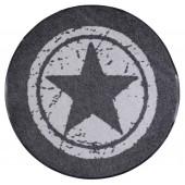 Fußmatte Salonloewe Star Grey rund