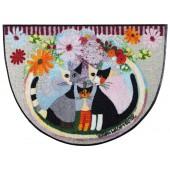 Fußmatte Rosina Wachtmeister Famiglia con fiore halbrund