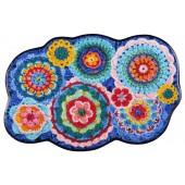 Fußmatte Crochet wolke