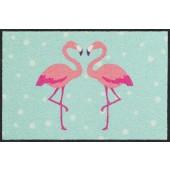 Fußmatte Flamingo Heart