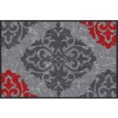 Fußmatte Ornamentweg grau rot