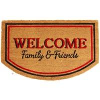 Kokosfußmatte Ruco Print Welcome Family Friends
