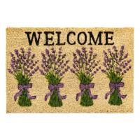 Kokosfußmatte lavender welcome