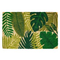 Kokosfußmatte green leaves