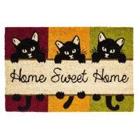 Kokosfußmatte home sweet home Katzen