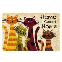 Kokosfußmatte home Katzen