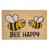 Kokosfußmatte Bee Happy