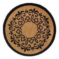 Kokosfußmatte Antique rund