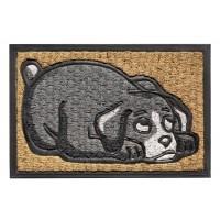 Kokos-Gummimatte lying dog
