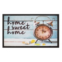 Fußmatte Image home sweet home clock