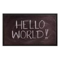 Fußmatte Image hello world