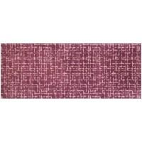 Fußmatte Mikrofaser Checker Plate Aubergine XXL