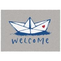 Fußmatte Mikrofaser Paper Boat Welcome